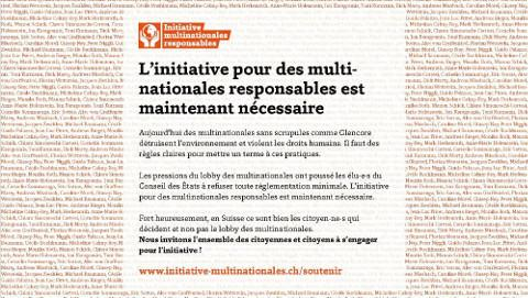 Enfants du Monde s'engage en faveur de l'Intiative multinationales responsables