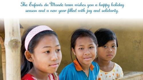 Enfants du Monde wishes you a happy holiday!