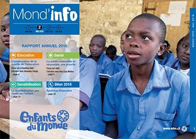The 2018 annual report of Enfants du Monde