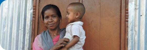 Enfants du Monde aide les femmes enceintes et mères au Bangladesh